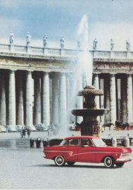 Taunus 17 M in Rome, A6-size postcard, Germany, # none