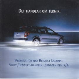 Laguna II intro brochure, 4 pages, 2001, Swedish language
