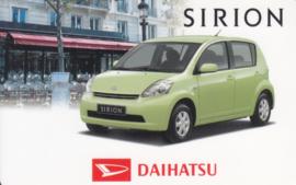 Daihatsu Sirion calendar card, year 2006, plastic, credit-card size