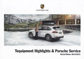 Tequipment Highlights & Porsche Service brochure, 36 pages, 10/2014, Austria, German language