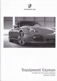 Cayman Tequipment pricelist, 48 pages, 05/2010, German
