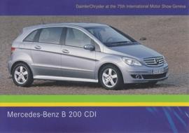 Mercedes-Benz B 200 CDI, A6-size postcard, Geneva 2005