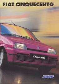 Cinquecento brochure, 32 pages (A4-size), 01/1997, Dutch language