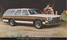 Estate Wagon Limited Option 2/3-seat, US postcard, standard size, 1979