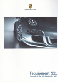 911 Tequipment (997) brochure, 36 pages, 05/2005, German language