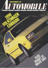 Automobile Magazine supplement brochure, 36 pages,  English language, USA market, 1990