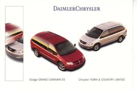 Chrysler/Dodge Vans, A6-size postcard, NAIAS 2000, English
