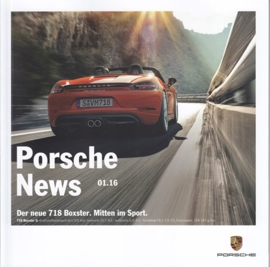 News 01/2016 with 718 Boxster, 34 pages, 02/2016, German language