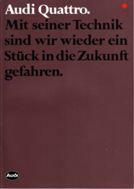 quattro brochure, 16 pages, 10/1982, German language