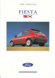Fiesta SX leaflet, 2 pages, 02/1991, English language, UK