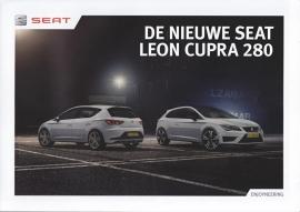 Leon Cupra 280 brochure, 8 pages, 2015, Dutch language