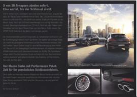 Macan Turbo Performance Paket leaflet, 2 pages, 2016, German
