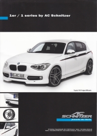 1-Series Hatchback by AC Schnitzer, A4-size leaflet, 11/2011, German & English language