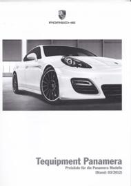 Panamera Tequipment pricelist, 64 pages, 03/2012, German