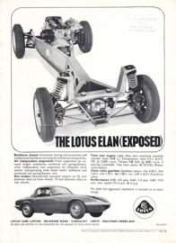 Elan with exposed chassis, 2 page leaflet, DIN A4-size, 1965, factory-issued, English language