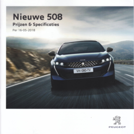 508 pricelist brochure, 16 pages, 05/2018,  Dutch language