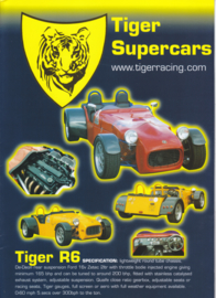 Tiger Seven replicas brochure,  4 glossy pages, DIN A4-size, English language