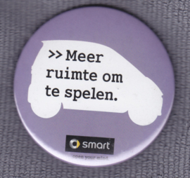 Smart fortwo button, Dutch text  {room to play}