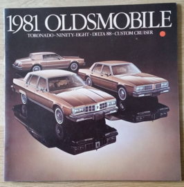 Toronado/98/Delta 88/Custom Cruiser brochure 1981, 28 large pages, 08/1980, USA