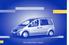 Mercedes-Benz Vaneo, A6-size postcard, IAA 2001