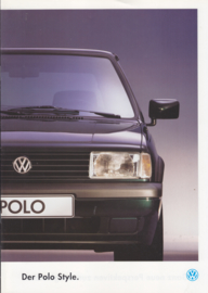Polo Style brochure, 8 pages,  A4-size, German language, 01/1994