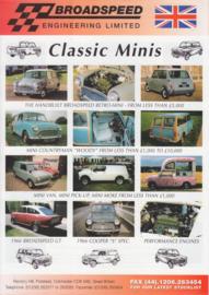 Broadspeed Classic Minis, leaflet, English language, about 1995