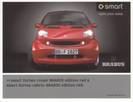 Fortwo coupé & cabrio Brabus edition red brochure,  6 pages, 02/2006, French language