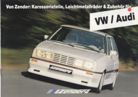VW/Audi Zender tuning brochure, 20 pages,  A4-size, German language, about 1985