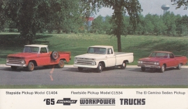 Chevy Trucks, US postcard, standard size, 1965, # 17