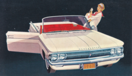 F-85 Sports Convertible, US postcard, standard size, 1962