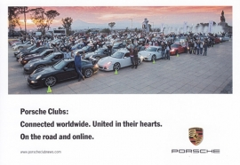 Porsche Clubs worldwide, A6-size postcard, factory-issue, English, 2016