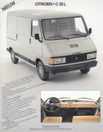 C35 L Van leaflet, 2 pages, 1980, Dutch language