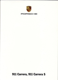 911 Carrera & Carrera S, A6-size set with 6 postcards in white cover, 2012, WSRC 1201 12S8 00
