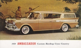 Custom Hardtop Cross Country, US postcard, standard size, 1959, # AM-59-7019F