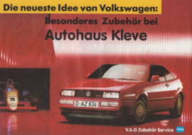 VW/Audi accessories brochure, 4 pages,  A4-size, German language, 1989