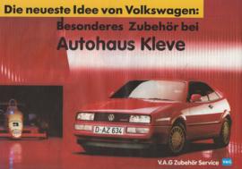 VW/Audi accessories brochure, 4 pages,  A4-size, German language, 1989