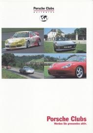 Porsche Clubs brochure, 12 pages, WVK 801 710 02, 2002, German