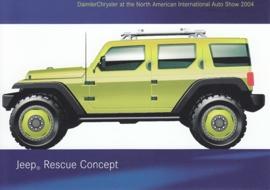 Jeep Rescue Concept, A6-size postcard, NAIAS 2004