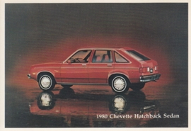 Chevette Hatchback Sedan,  US postcard, standard size, 1980
