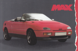 Max Roadster, advertising postcard, Dutch, about 1989
