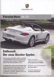 News 04/2009 with Boxster Spyder, 24 pages, 11/09, German language