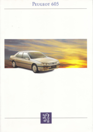 605 Sedan brochure, 36 + 12 pages, A4-size, 1993, French language