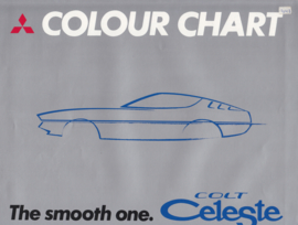 Celeste Colour Chart brochure, 4 pages, 12/1975, 3 languages