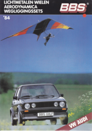 VW/Audi BBS Program brochure, 4 pages,  A4-size, Dutch language, 1984
