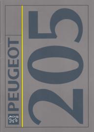 205 brochure, 34 pages, A4-size, 1992, Dutch language