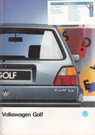 Golf brochure, 24 pages,  A4-size, Dutch language, 08/1987