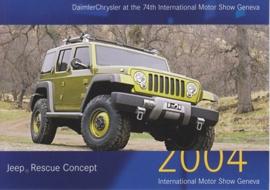 Jeep Rescue Concept, A6-size postcard, Geneva 2004