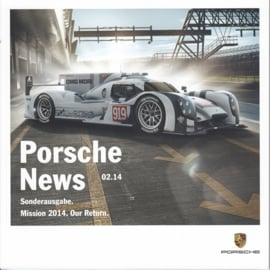 News 02/2014 with 919 Hybrid Le Mans, 50 pages, 05/2014, German language