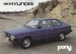 Pony 3-Door Hatchback brochure, 4 pages, about 1981, Dutch language