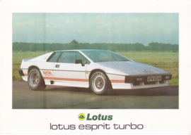 Esprit Turbo, 2 page leaflet, DIN A4-size, factory-issued, 1981, English language